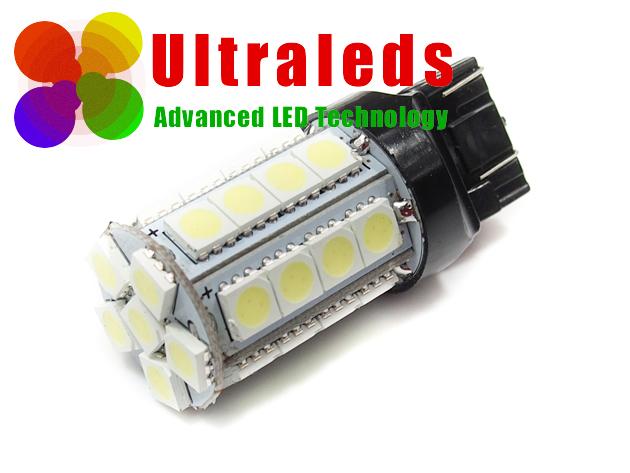 T20 W21/5W 7443 żarówka diody 30 LED SMD dwa włókna DRL